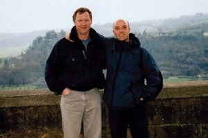 Carlo-and-Larry-in-Tuscany,-Italy